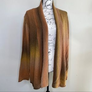 White stag open front cardigan